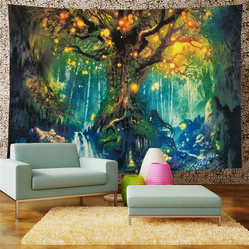 3D Wishing Tree Wall Tapestries Home Decoration Wall Decorations Bedspread Bed Cover Table Cloth Curtain