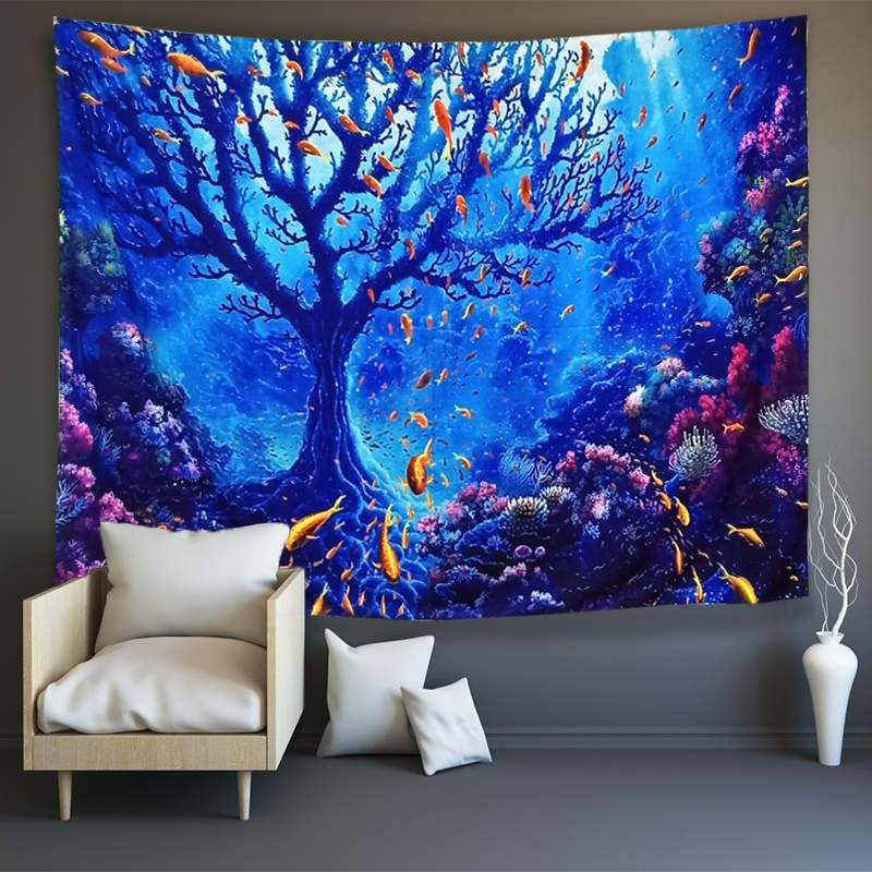 3D Underwater Elf World Wall Tapestries Home Decoration Wall Decorations Bedspread Bed Cover Table Cloth Curtain