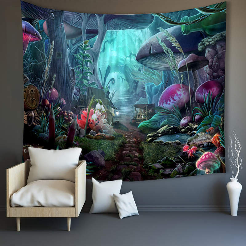 3D Elf World Wall Tapestries Home Decoration Wall Decorations Bedspread Bed Cover Table Cloth Curtain