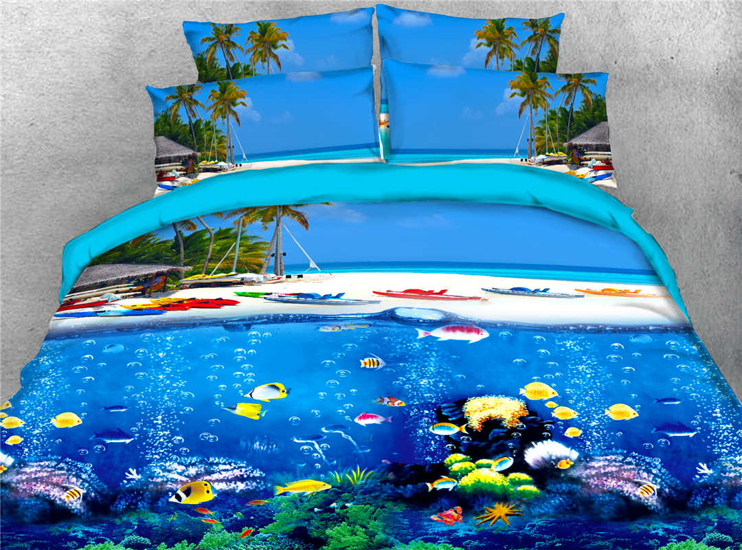 Beddinginncolorful Tropical Fish Sea Printed Tencel Cotton 4 Piece 3d Bedding Sets Duvet Covers Dailymail